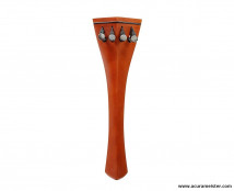 HILL Style Tailpiece - INDIAN BOXWOOD with BLACK (Ebony) Fret