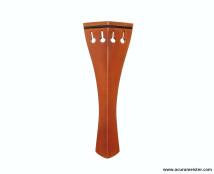 HILL Style Tailpiece - INDIAN BOXWOOD with BLACK (Ebony) Fret